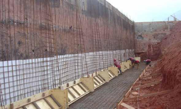 Muro de arrimo o que tipos quanto custa 2 quartos for Muro de concreto armado