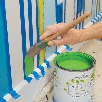 Como pintar paredes com listras 2 quartos - Como pintar una pared a rayas ...