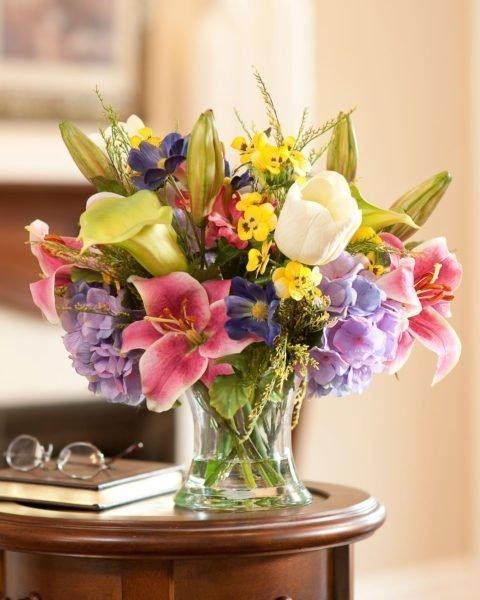Como usar arranjos de flores artificiais na decoraç u00e3o? 2 Quartos -> Decoração Arranjos De Flores Artificiais